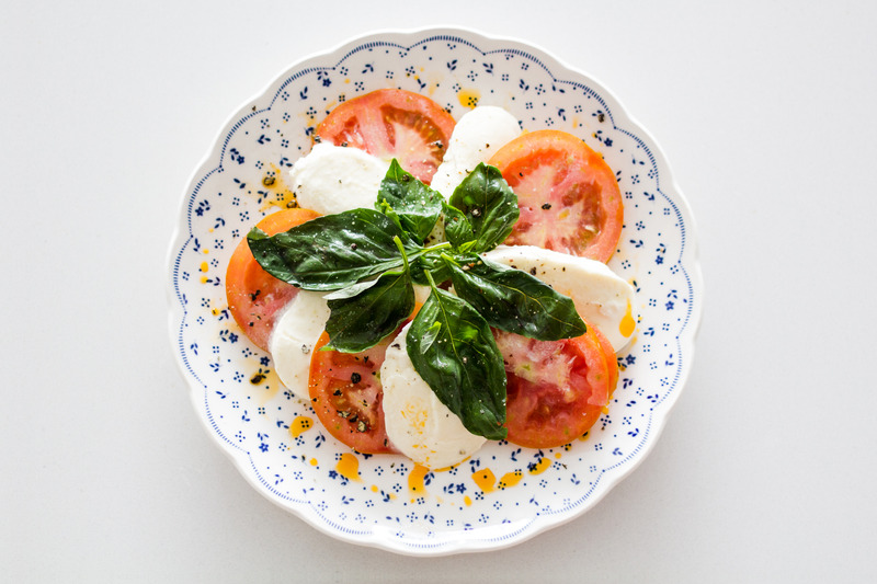 vegetariánska strava, mozzarela z paradajkami